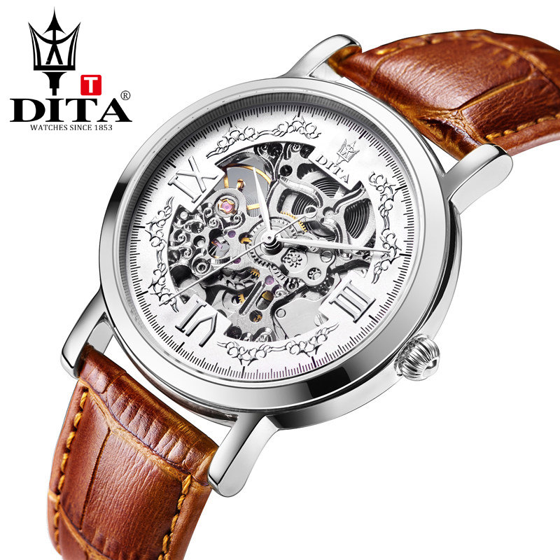 DITA Skeleton mens watches top brand luxury automatic mechanical watch sport waterproof black business belt watch Tourbillon tourbillon business mens watches top brand luxury shockproof waterproof skeleton watch men mechanical automatic wristwatch