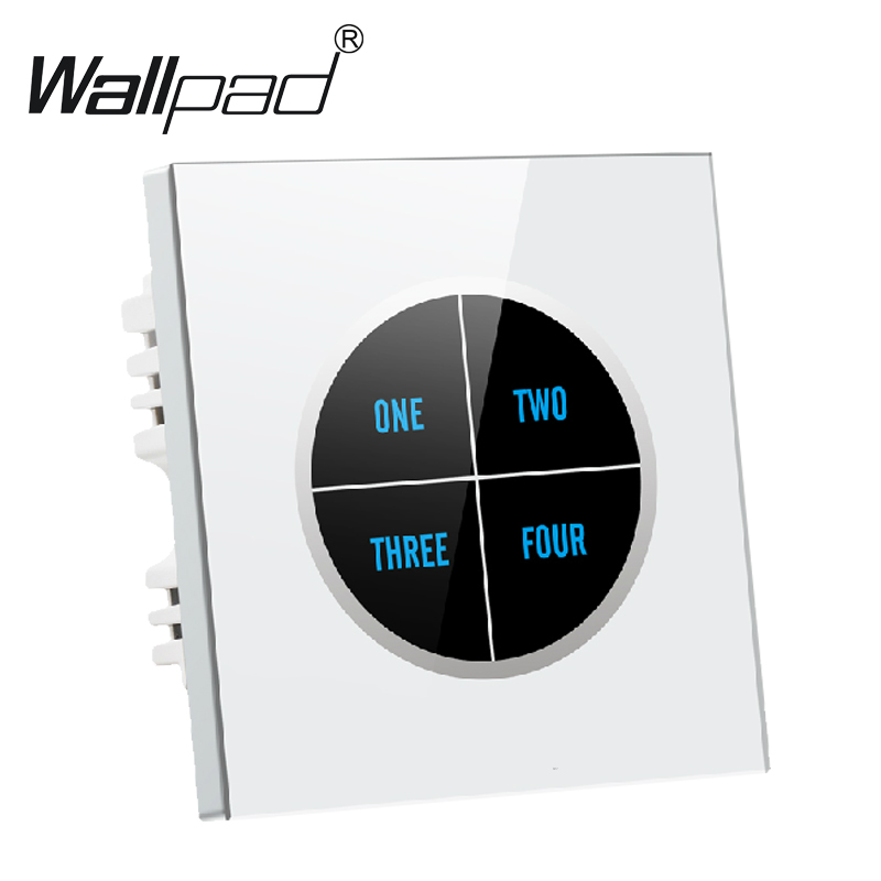 Luxury 4 gangs 1way White Tempered Glass Touch Light Wall Switch Free customize button 110V~250V touch wall switch,Free Shipping free shipping colorful pink click switch 3gang 1way 2way light wall switch pressure switch push button switch led nightlight