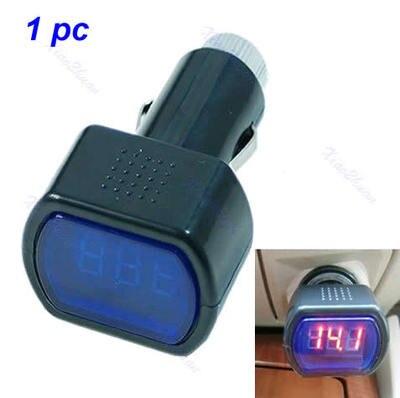 Digital LED Car Truck System Battery Voltmeter Voltage Gauge Volt Meter 12V 24V dual red blue led digital voltmeter ammeter panel volt gauge meter