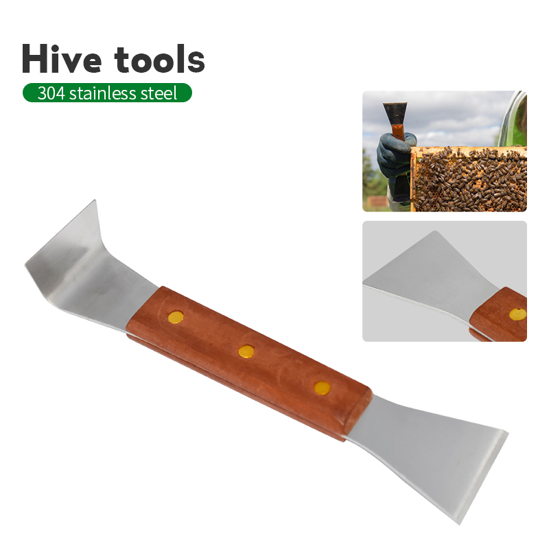 Beekeeping Equipment Scraper Wood Handle Hive Tools For Scraper Cleaning Beehive Beekeeping Tools