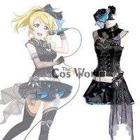 LoveLive! Love Live BiBi Ayase Eli Rock Corset Tube Tops Uniform Dress Outfit Anime Cosplay Costumes