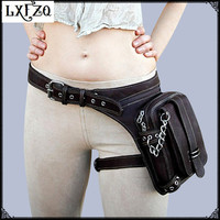 motorcycle leg bag Purse leather carteras mujer bag Steampunk thigh Motor leg Outlaw Pack Steam punk waist bag a case for phone