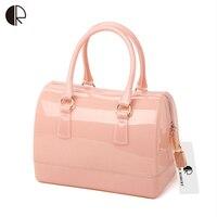 Woman Summer Handbag Brand Fashion Silicone Jelly Bag Boutique Tote Candy Transparent Noble Feminina Bag Casual