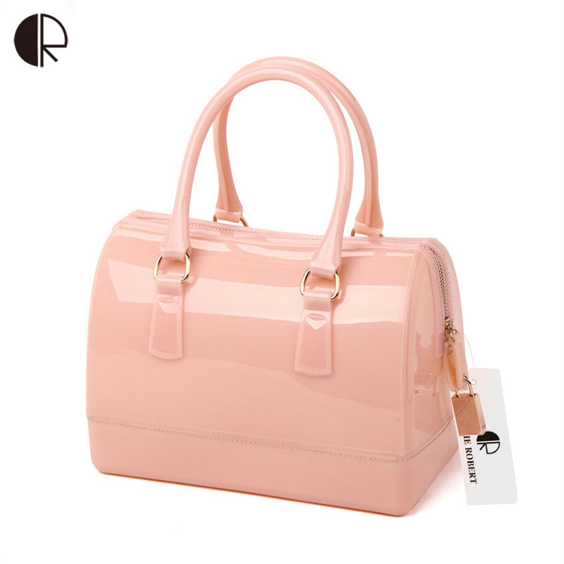 Woman Summer Handbag Brand Fashion Silicone Jelly Bag Boutique Tote Candy Transparent Noble Feminina Bag Casual Clutch BH897