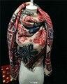 2016 горячая распродажа Za новое женщин прибытия осень и зима толщиной кашемир шерсть старинные этнические большой площади мыс шарф пашмины