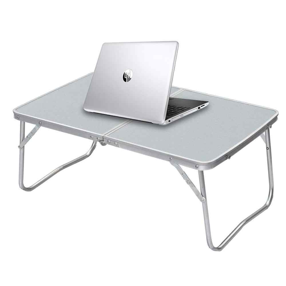 Jucaifu Foldable Laptop Table Silvery Bed Desk Portable Mini Picnic Table /& Ultra Lightweight Breakfast Serving Bed Tray Folds in Half with Inner Storage Space