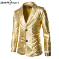 2017 New Arrival Men Blazer Gold Color Design Mens Dress Night Club Suit High Quality Mens Fashion Blazer Jackets