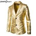 2017 Nueva Llegada de Los Hombres Blazer de Color Oro Diseño Mens Night Club Del Vestido de Traje de Alta Calidad Para Hombre de Moda Blazer Chaquetas