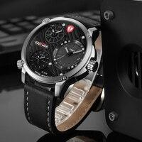 KADEMAN армия военная Униформа мужские часы повседневное бренд мужской спортивные Кварцевые аналоговые Мужские кожаные наручн
