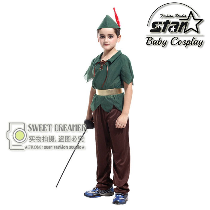 Peter Pan Movie Character Cosplay Costumes for Boys Halloween Carvinal Clothes Set for Kids Carnival Performance Stage Costume kids boys pilot costume cosplay halloween set for children fantasia disfraces game uniforms boys military air force jumpsuit