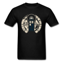 Doctor Strange Doctor Who Spaceship T Shirts Police Box Avengers Endgame Time Lord Aesthetic Graphic Men Tshirts Oversized