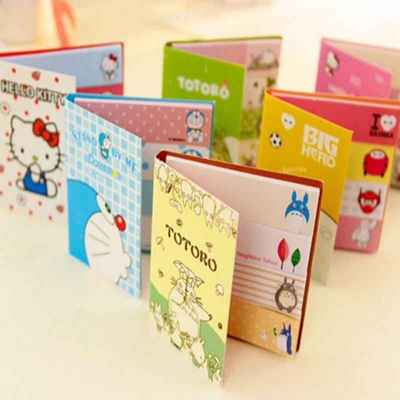 Cute Kawaii Cartoon Totoro Baymax Memo Pad Lovely Kitty Doraemon Post it Note Korean Stationery School Supply Free shipping 265