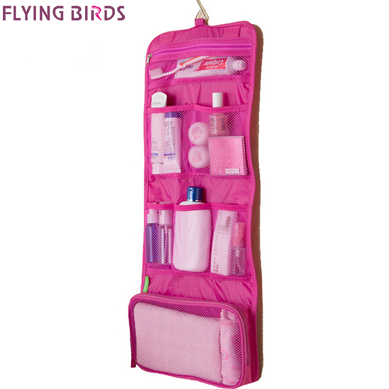 FLYING BIRDS Makeup Organizer Multifunctional Trousse De Maquillage Cosmetic Hanging Toiletry Bag Travel Cosmetic Bags LM4194fb fashion travel cosmetic bag makeup case portable travel pouch toiletry wash organizer trousse de maquillage for