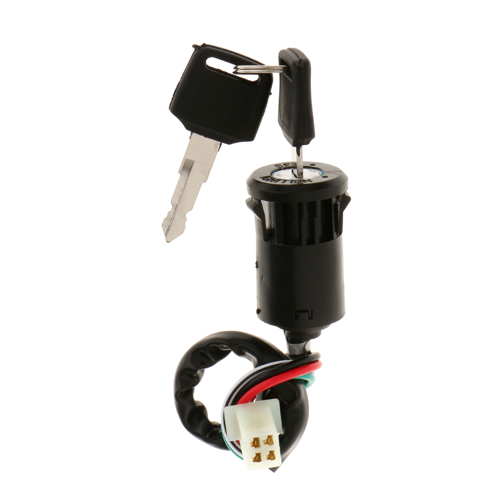 4 Wires Ignition Key Switch 50cc 70cc 90cc 110cc 125cc Atv Dirt Bike Go Kart Universal Motorcycle Motorbike Car styling in ATV Parts Accessories from Automobiles Motorcycles