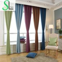 Slow Soul Beige Gray Pink Light Coffee Solid Linen Shade Curtain Japan Style Curtains For Living