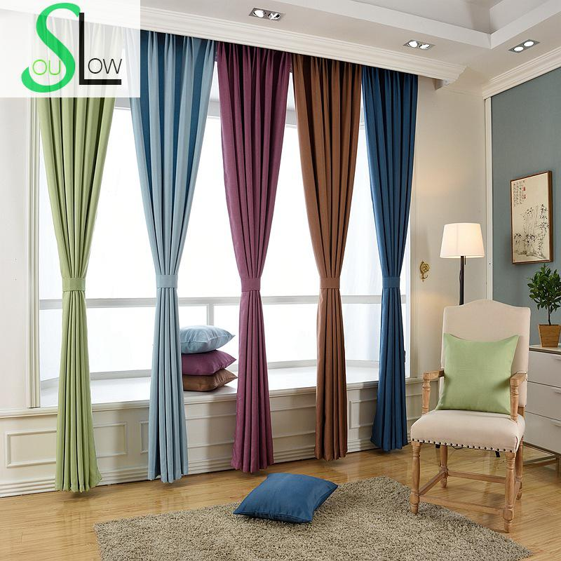 Slow Soul Beige Gray Pink Light Coffee Solid Linen Shade Curtain Japan Style Curtains For Living Room Kitchen Bedroom Blinds