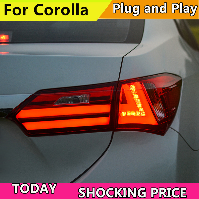 doxa Car Styling For Toyota Corolla Altis Rear Lamp for 2014 2017 LED Carolla taillight DRL