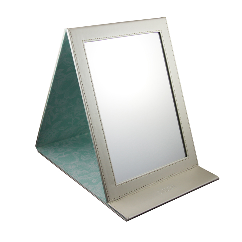 Hot bolen desktop folding portable mirror cosmetic small for Application miroir pc