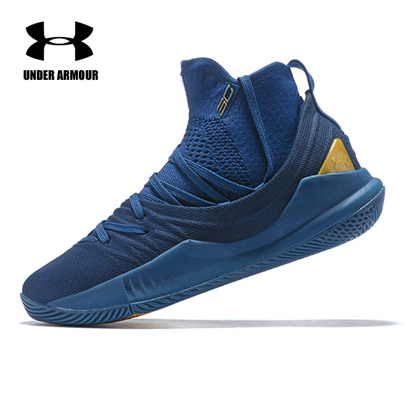 Under Armour Men Curry 5 Basketball Shoes Stephen Curry sport Basketball Sneakers Male Training Unique Socks Design sport shoes curry 2 shoes stephen curry shoe curry 1 2 5 3 shoe 2016 men women kids boy krasovki basket femme male boty hip hop cheap