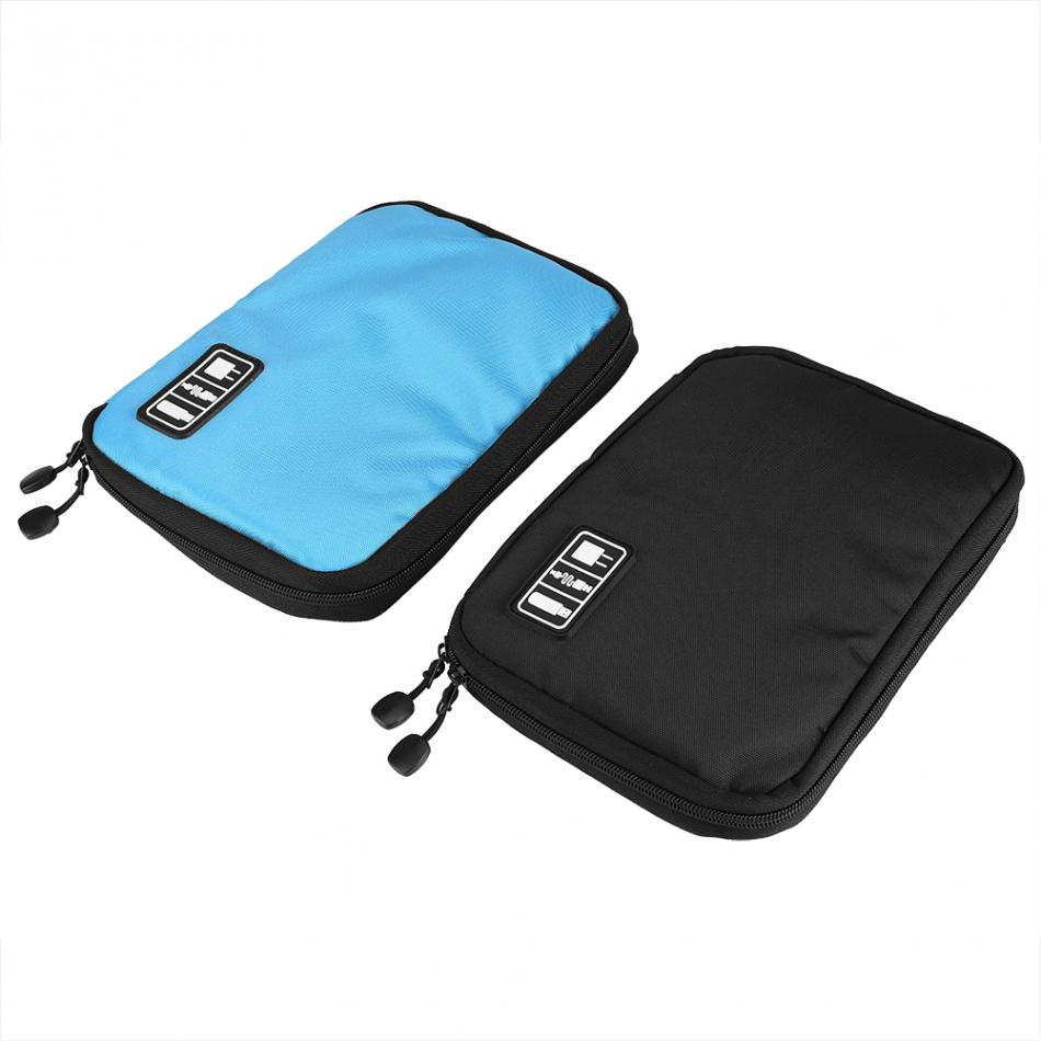 Electronic Accessories Bag Holder Earphone Cables USB Flash Drives Organizer NylonTravel Bag Electric Wire Storage Bag