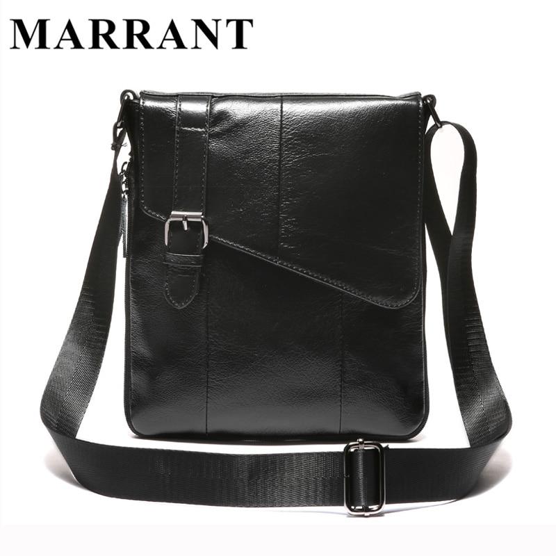 ФОТО MARRANT Genuine Leather Men Bags Fashion Male Messenger Bag Men's Small Briefcase Man Casual Crossbody Bag Shoulder Handbag 8240