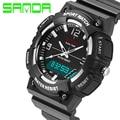 Hombres moda casual reloj de los hombres militares relojes 2016 sanda g estilo de choque impermeable de lujo deportivo digital reloj relogio masculino