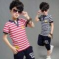 Летом комплект мальчиков полосатый устанавливает майка + шорты / 2 шт. детской одежды мальчик устанавливает C5