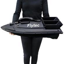 ボートキットバージョンのリモートコントロール水おもちゃボートブラック/グリーン RC Flytec RC
