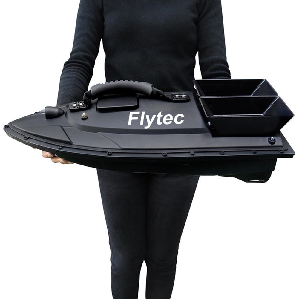 Flytec 2011-5 RC appâts bateau jouets outil de pêche appâts de pêche intelligents RC bateau Kit Version télécommande eau jouets bateau noir/vert