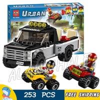 253pcs City Great Vehicles ATV Race Team Model Building Blocks 10649 Assemble Karting Bricks Children Toys
