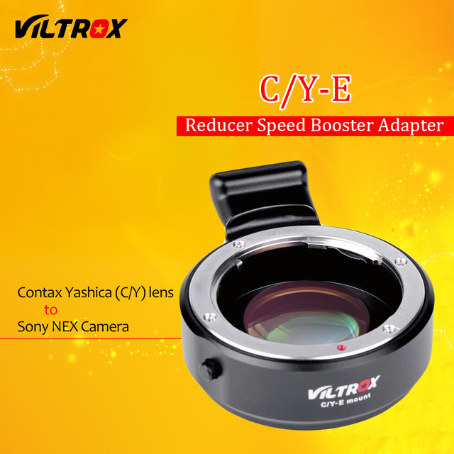 Viltrox C/Y-E Focal Reducer Speed Booster Adapter for Contax Yashica C/Y Lens to Sony E NEX A7 II A7R A7S A6300 A6000 NEX-7/6