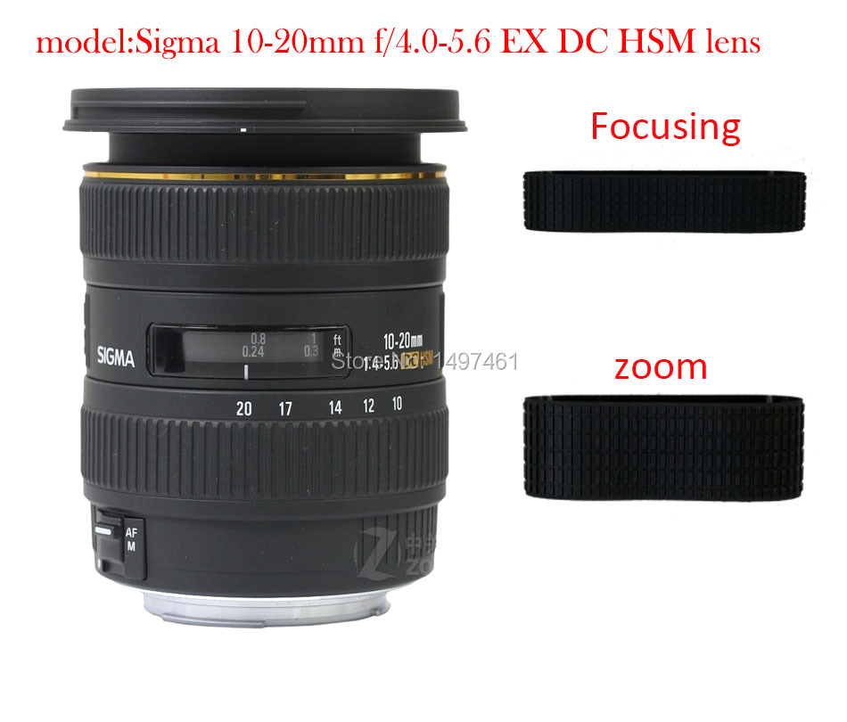 Lens Zoom and manual focus Rubber Ring/Rubber Grip Repair Succedaneum For Sigma 10-20mm f/4.0-5.6 EX DC HSM lens