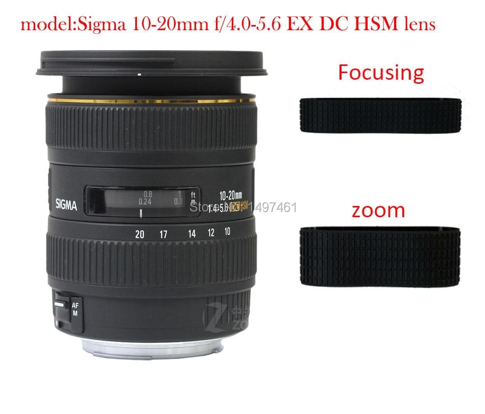 Lens Zoom and manual focus Rubber Ring/Rubber Grip Repair Succedaneum For Sigma 10-20mm f/4.0-5.6 EX DC HSM lens