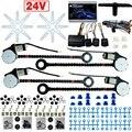 DC24V Car/Truck Universal 4 Puertas Elevalunas Electronice kits Con 8 unids/set Swithces y Arnés # CA4498