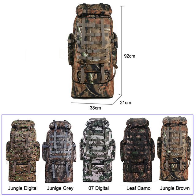 scione 100L Military Molle Bag Camping Tactical Backpack Men Large Backpacks Hiking Travel Outdoor Sport Bags Rucksack XA231WA 1