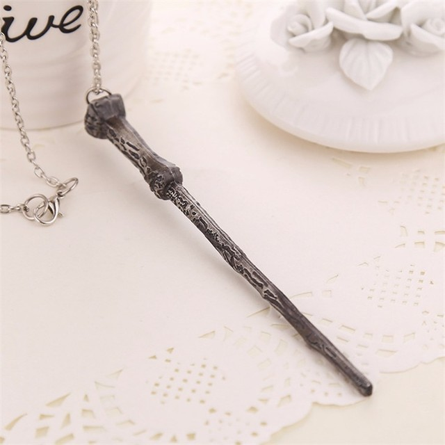 Magic Wand Necklace+The Deathly Hallows Necklace