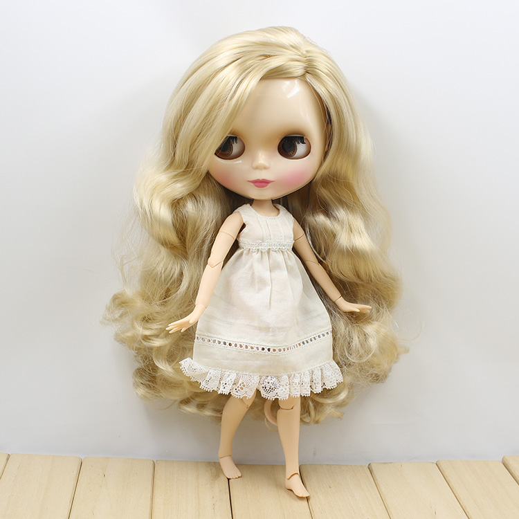 icy factory blyth doll 280BL3715 long blond hair with joint body side parting about 30cm
