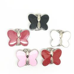 Custom factory 200 шт. Оптовая красочные бабочки металлическая пряжка на ремешке для 3 см женские пояса