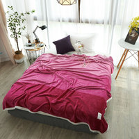 Hot Home Textile Flannel Blanket Pink Plaid Super Warm Soft Blankets Throw On Sofa Bed Plane
