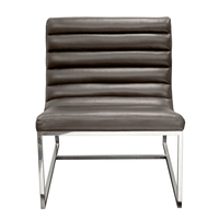 Diamond Bardot Lounge Chair with Stainless Steel Frame