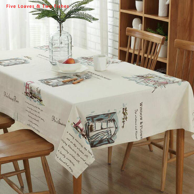 Free Shipping Creative Square Tablecloths Cotton Linen Tablecloth  Rectangular Table Cloth Solid Table Cover Manteles