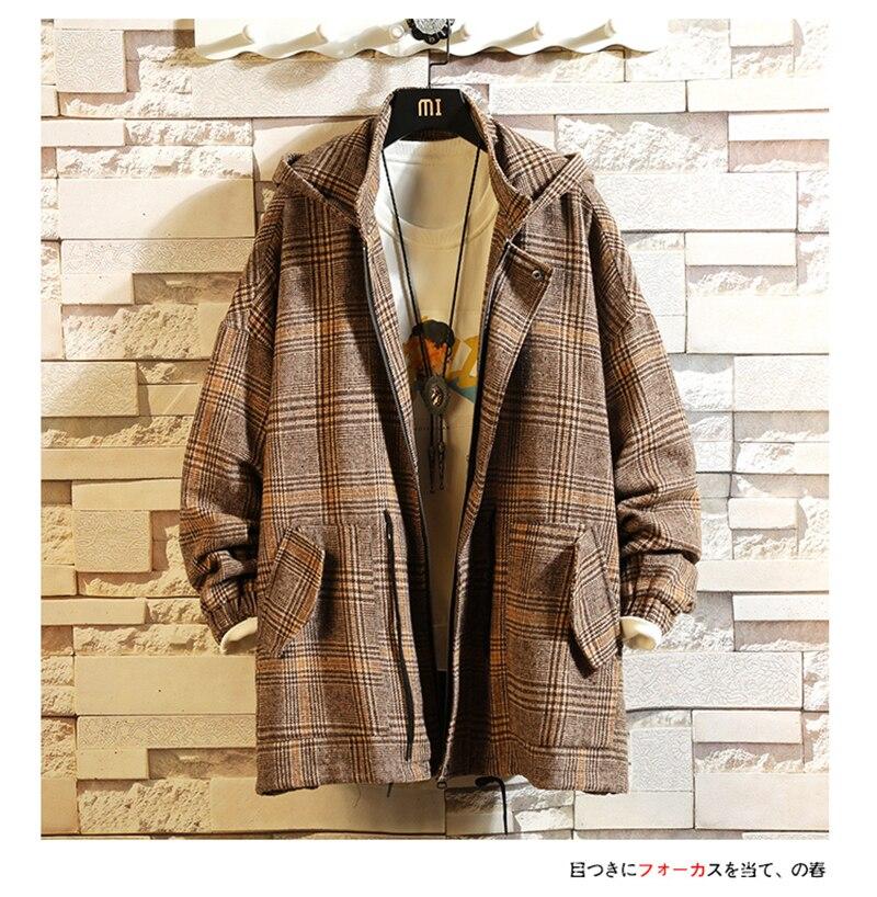 Male Long Coat Oversize Lapel Button Sobretodos Hombre Overcoat Streetwear (43)