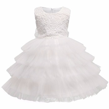New Lace Flower Princess Girl Tutu Dress for First Holy Communion Wedding Pageant Party Formal Gown Children Prom Dresses