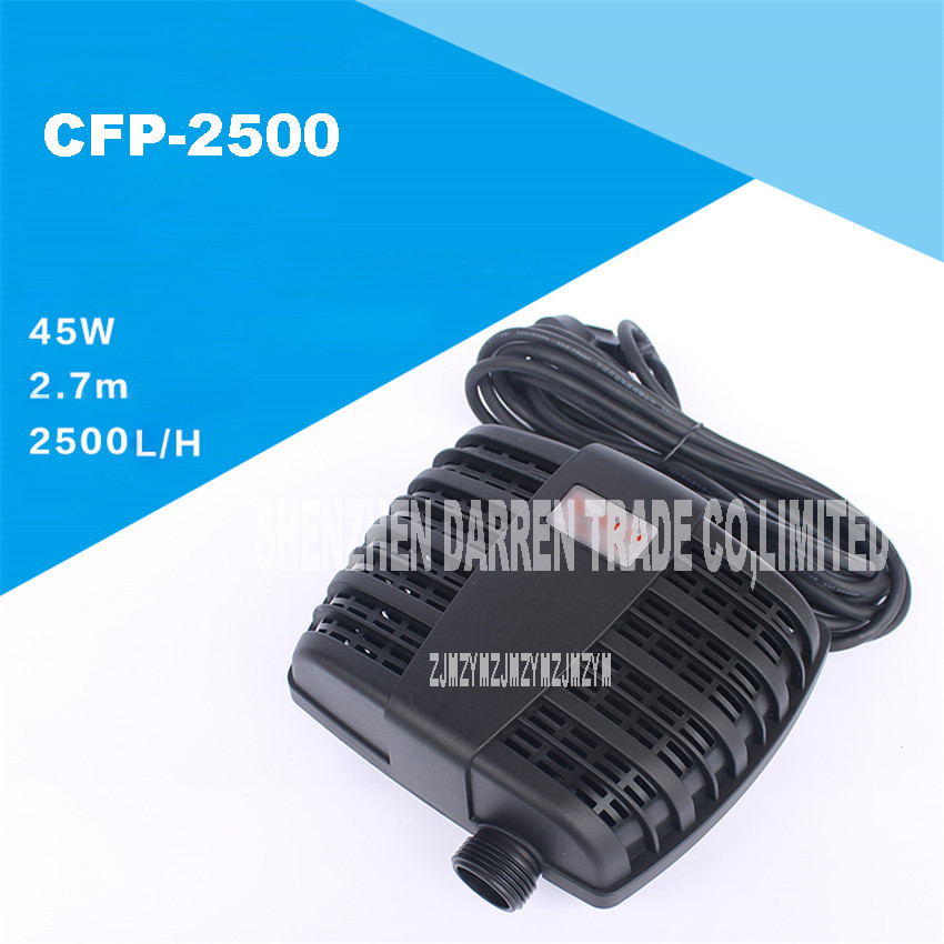 Pond Filter Submersible Pump 220V 45W 2500L/H Garden Pond water pump 20MM /25MM Water outlet diameter CFP-2500 free shipping clb series submersible water pump for pond