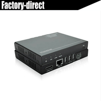 HDBaseT KVM Extender по cat6/6e 4 К X 2 К/60 Гц до 100 м HDBaseT 2,0 RS232 HDCP 2,2 USB управления