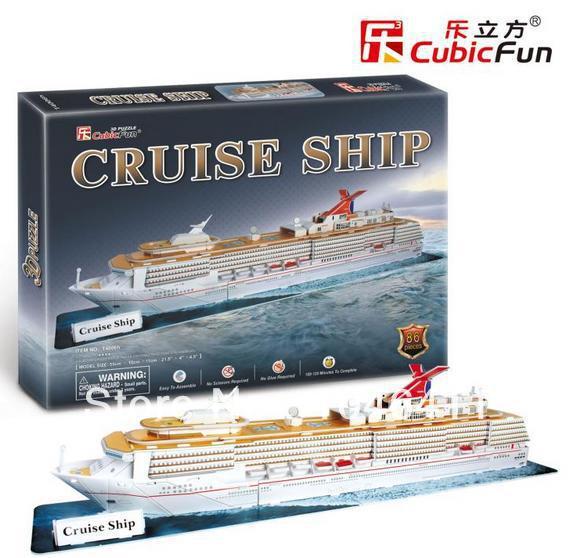 Cruise Ship CubicFun 3D educational puzzle Paper & EPS Model Papercraft Home Adornment for christmas gift petronas towers cubicfun 3d educational puzzle paper