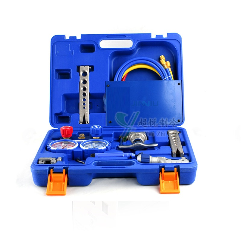 Refrigeration Integrated flaring tool kits VTB-5B Refrigeration tool set Expander Refrigerant Table set combination tool set r410 double gauge valve expander vtb 5b