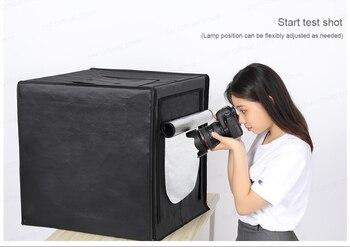 Min Photo Studio Lightbox Tabletop Shooting Folding Studio Portable Tent 60cm Soft Box 160 LED Photography Light Kit Upgrade