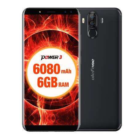 Original Ulefone Power 3 teléfonos móviles de 6,0 pulgadas 64GB ROM 6GB RAM Octa Core MTK6763 Android 7,1 de cuatro cámaras 6080mAh Smartphone - 4