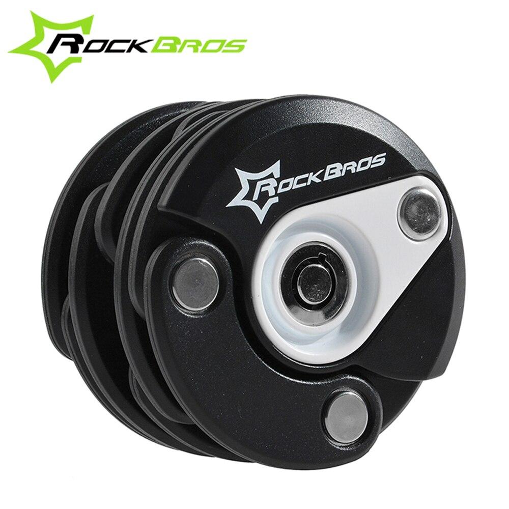 RockBros Germen Reddot Design prix vélo moto vélo électrique haute sécurité chaîne en acier serrure Mini Hamburger serrure, 4 couleurs